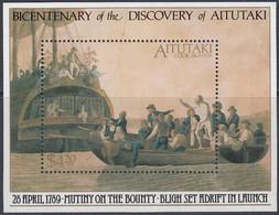 Aitutaki 1989 -  200th Anniv. Of The Discovery Of Aitutaki By Captain Bligh - Miniature Sheet Mi Block 72 (653) ** MNH - Aitutaki