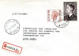 1981 R-enveloppe Met Ster Stempel LOKEREN 6 - Boudewijn Zegels - Lettres & Documents