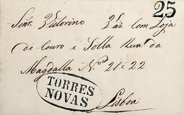 1848 Portugal Pré-Filatelia TNV 4 «TORRES NOVAS» Azul - ...-1853 Vorphilatelie