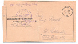 "Freistempel, Berlin, Vignette, "" Preuß. Amtsgericht Tempelhof "", 1936 - Storia Postale"