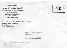 1984 R.D. Forces Armées Enveloppe Etat Major Général 1140 Bruxelles - Lettres & Documents