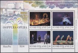 Finnland, 1993, 1219/22 Block 10, MNH **, Eröffnung Des Opernhauses Helsinki. - Unused Stamps