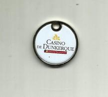 "NEUF JETON DE CADDIE CASINO DE DUNKERQUE GROUPE TRANCHANT VERSO KIPLING'S ""BAR-LOUNGE"" - Jetons De Caddies"
