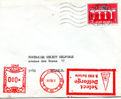 1984 Enveloppe Van WEMMEL Naar SELECT DELFORGE Belsele - Zie Rode Machine Frankering *000 - Europa Zegel 12 Fr - Lettres & Documents