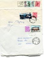 3 Enveloppen Met Stempels BRUXELLES BRUSSEL H1E - AXJ - Bijfrankeringen Leeuw - Lettres & Documents