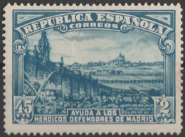 1938 Defensa De Madrid.  Edifil 757 . Nuevo - 1931-50 Usati