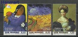 San Marino 2003 Mi 2081-2083 MNH  (ZE2 SMR2081-2083) - Impressionisme