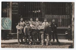 CARTE PHOTO BETHMONT RUE DE L' ORILLON PARIS - ROBINETTERIE POUR EAU FORCEE - GAZ & VAPEUR - ECRITE 1905 -zz 2 SCANS Zz- - To Identify