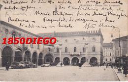 RAVENNA - PIAZZA  VITTORIO EMANUELE F/PICCOLO  VIAGGIATA  BELLA ANIMAZIONE - Ravenna