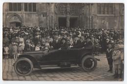 CARTE PHOTO A. WILMET RETHEL (08) : EGLISE SAINT NICOLAS - FETES DE SAINTE ANNE 1926 ? MARIAGE ? CEREMONIE -zz R/V Zz- - Rethel