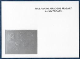 Guyana 1992 Durer Mozart Curie Karpov Einstein Harris Silver S/S On Glossy Cardboard Argent MNH** Rare - Other