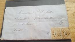 LOT550920 TIMBRE DE FRANCE OBLITERE N°28 EN PAIRE  SUR ENVELOPPE - 1863-1870 Napoleon III With Laurels