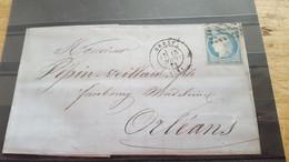 LOT550929 TIMBRE DE FRANCE OBLITERE N°37 SUR ENVELOPPE - 1870 Besetzung Von Paris