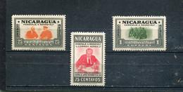 Nicaragua 1946 Yt 243-245 * Timbres Pour La Poste Aérienne - Nicaragua