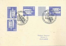 "Sonderstempel  ""Bellinzona - Giornate Europee (Raketenflug / Kehrdruckfrankatur)             1961 - Storia Postale"