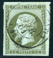 N° 11 Cote 90 € 1 Ct Vert-olive Oblitéré. Voir Description - 1853-1860 Napoléon III.