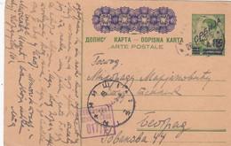 Deutsches Reich Serbien Postkarte P3 1943 - Ocupación 1938 – 45