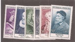 France - Série 1955 Y&T N°1025/1032 Avec Charnière - Célébrités Du XII Au XX Siècle - Ongebruikt