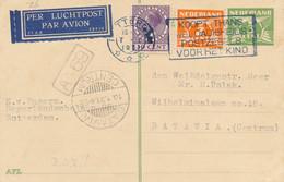 Nederland - 1931 - 30 Cent Veth Op Vroege LP-briefkaart Van Rotterdam Naar Batavia / Ned. Indië - Briefe U. Dokumente