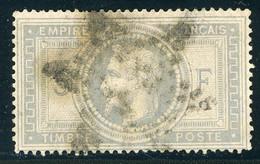 N° 33 Cote 1150 € 5 Fr Violet Gris. Oblitération Etoile. Voir Description - 1863-1870 Napoleon III Gelauwerd