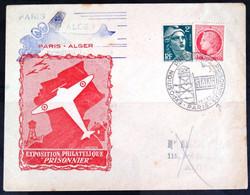 """FRANCE        Exposition Philatélique """"PRISONNIER""""       PARIS - ALGER     1946 - Expositions Philatéliques"""