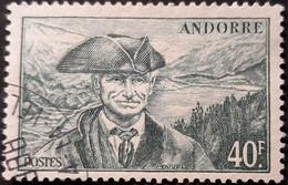 ANDORRE FR 1944 N°117 Oblitéré 40F Vert Viguier USED - Usati