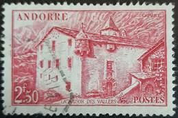 ANDORRE FR 1944 N°105 Oblitéré 2,50F Rose Carminé Maison Des Vallées USED - Usati