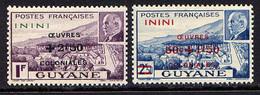 ININI - 57/58** - CAYENNE / PÉTAIN / ŒUVRES COLONIALES - Nuovi