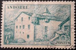 ANDORRE FR 1948 N°121 Oblitéré 4F émeraude Maison Des Vallées USED - Usati