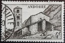 ANDORRE FR 1948 N°122 Oblitéré 4F Sépia Chapelle De St Jean De Caselles USED - Usati
