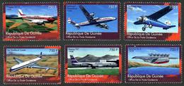 Guinée Guinea 2000 Douglas DC-3 DC3, Dornier Do-X, Lockheed Vega, Streamliner De Havilland Comet, Boeing 707 - Airplanes