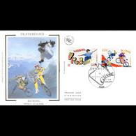 FDC Soie - Sports De Glisse - Skateboard / Bi Cross - 3/7/2004 Paris - 2000-2009