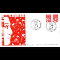 FDC LNF - Une Marianne Pour Une Grande Cause (Sida) - 1/7/2004 Paris - 2000-2009