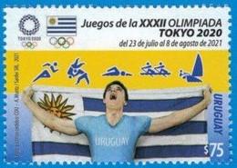 Uruguay 2021 ** Stamp Olympic Games Tokyo. Athletics, Swimming, Martial Arts, Rowing, Sailing. - Zomer 2020: Tokio