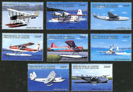 Guinée Guinea 2001 Hydravions Seaplanes Boeing Model 1, Grumman Goose, Sikorsky S-42, Boeing 314 (YT 1376) - Airplanes