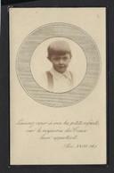 DOODSPRENTJE KIND *JACQUES DE DECKER * ENFANT * GENT * GAND 1918 - 1923 * PHOTO * FOTO * 2 SCANS - Avvisi Di Necrologio