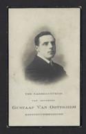 GUSTAAF VAN OOTEGHEM * GENT * KOFFIEHUISBEDIENDE IN HET CAFE ROYAL * 1888 - 1922 * FOTO * DRUKK BUYCK GEBR - Avvisi Di Necrologio
