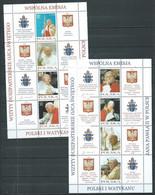 Pologne 2x Mini-feuille YT N°3860/3867 Visite Du Pape Jean-Paul II En Pologne Neuf ** - Ongebruikt