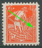 SBZ Mecklenburg-Vorpommern 1945 Bodenreform Mit Plattenfehler 25 B I Mit Falz - Zona Sovietica