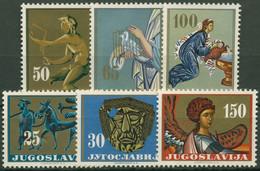 Jugoslawien 1962 Kunstgegenstände 1026/31 Postfrisch - Unused Stamps