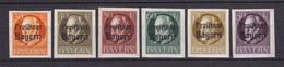 Bayern - 1920 - Michel Nr. 159/164 B - Ungebr. - Beieren