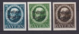 Bayern - 1920 - Michel Nr. 168/170 B - Ungebr. - Beieren