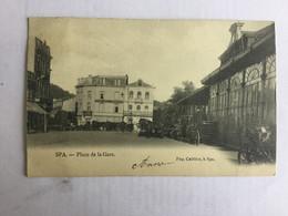 SPA  PLACE DE LA GARE 1905   BELLE ANIMATION - Spa