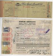 Brazil 1950checkbook With 1 CheckBanco Agrícola-MercantilAgricultural-Mercantile Bank+ Duplicate Cancel Same Bank - Assegni & Assegni Di Viaggio