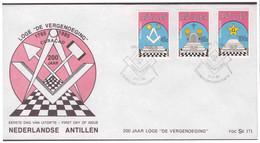 Antillen / Antilles 1985 FDC Se 171 Loge Freemasonry - Curaçao, Nederlandse Antillen, Aruba