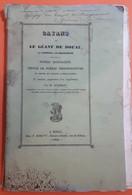 GAYANT OU LE GEANT DE DOUAI SA FAMILLE SA PROCESSION PAR M. QUENSON - ORNEE DE DESSINS LITHOGRAPHIES - Picardie - Nord-Pas-de-Calais