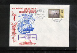 Falkland Islands Dependencies 1981 South Georgia Antarctic Cruising Expedition MS World Discoverer - Navi Polari E Rompighiaccio