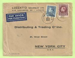 291A+430 Op Brief Per Luchtpost (avion)  Stempel ANTWERPEN Naar U.S.A. (B4306) - 1929-1941 Big Montenez