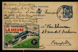 Publibel Obl. N° 590 ( Comprimés LA MEUSE Mettent Le Mal En Déroute ) Obl. WAREGEM  - B B - Du 04/09/1945 - Publibels