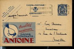Publibel Obl. N° 580 ( Bonbons ANTOINE - Pie ) Obl. CHARLEROI 16/11/44 - Publibels